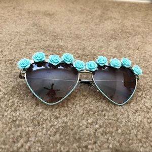 facea15499d8c Women s Forever 21 Heart Sunglasses on Poshmark